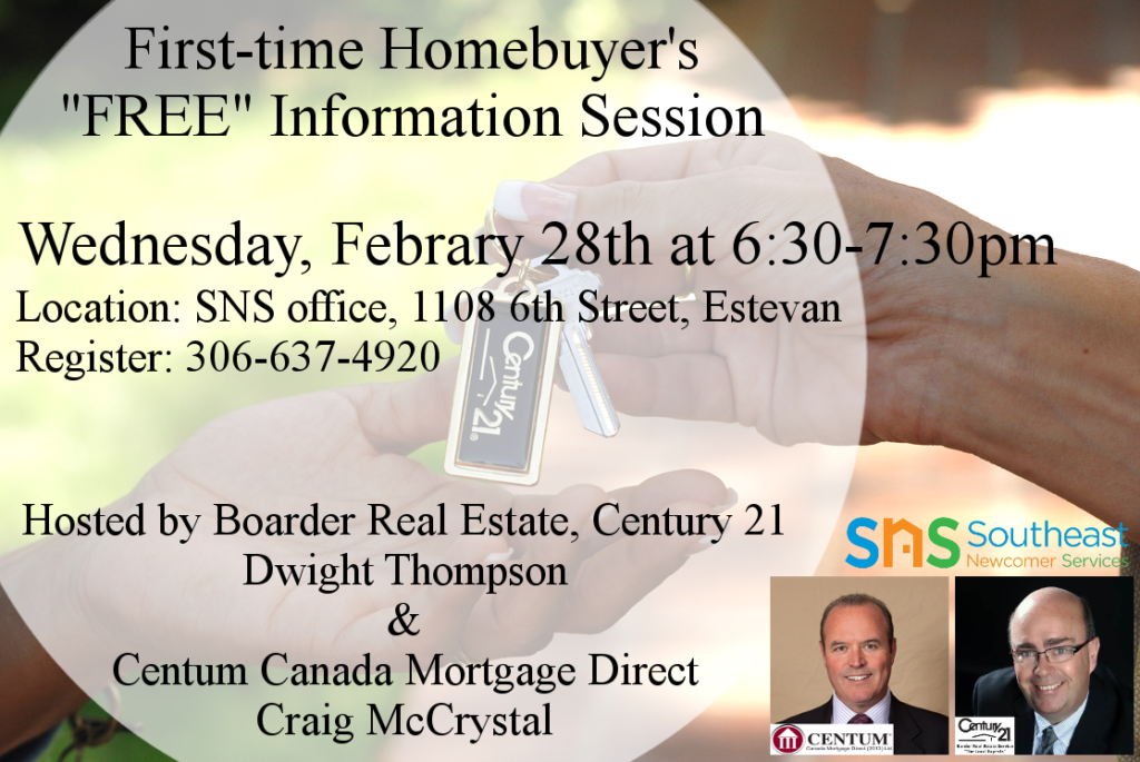 """""""FREE"""" Information Session for buying a home the first time."""