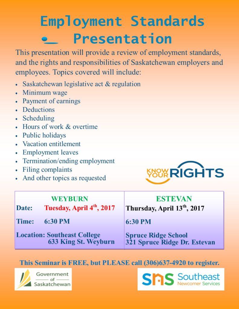 Employment Standards Presentation