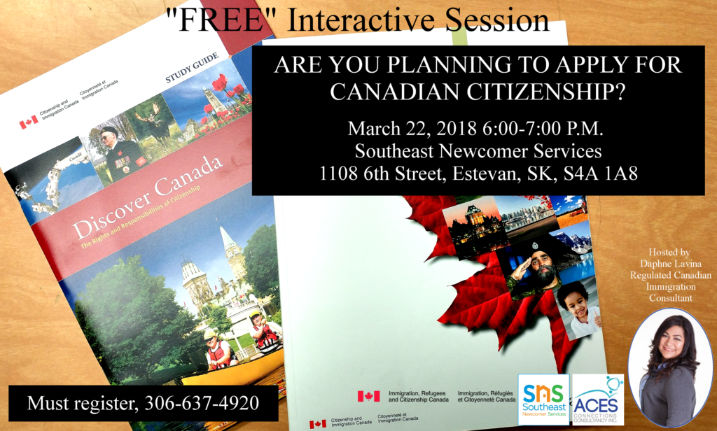 """Canadian Citizenship """"FREE"""" Interactive Session"""