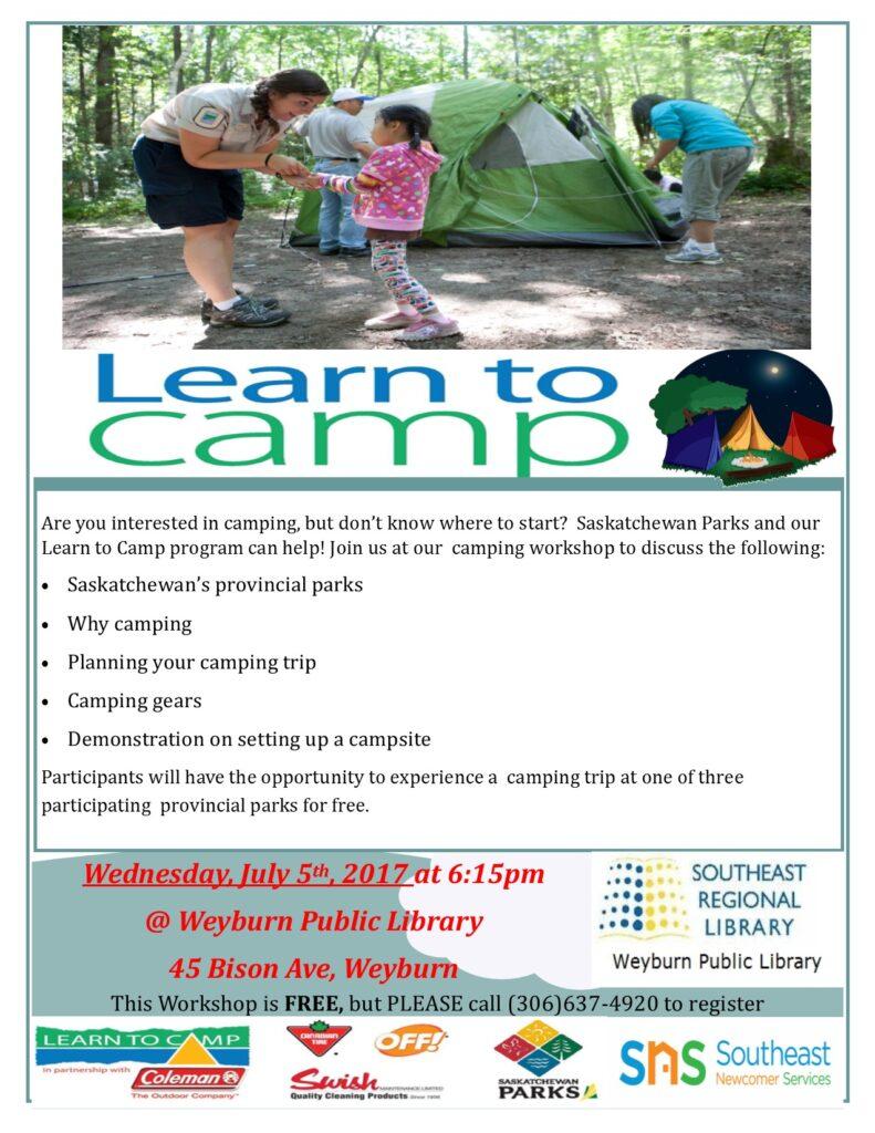 Learn to Camp Weyburn