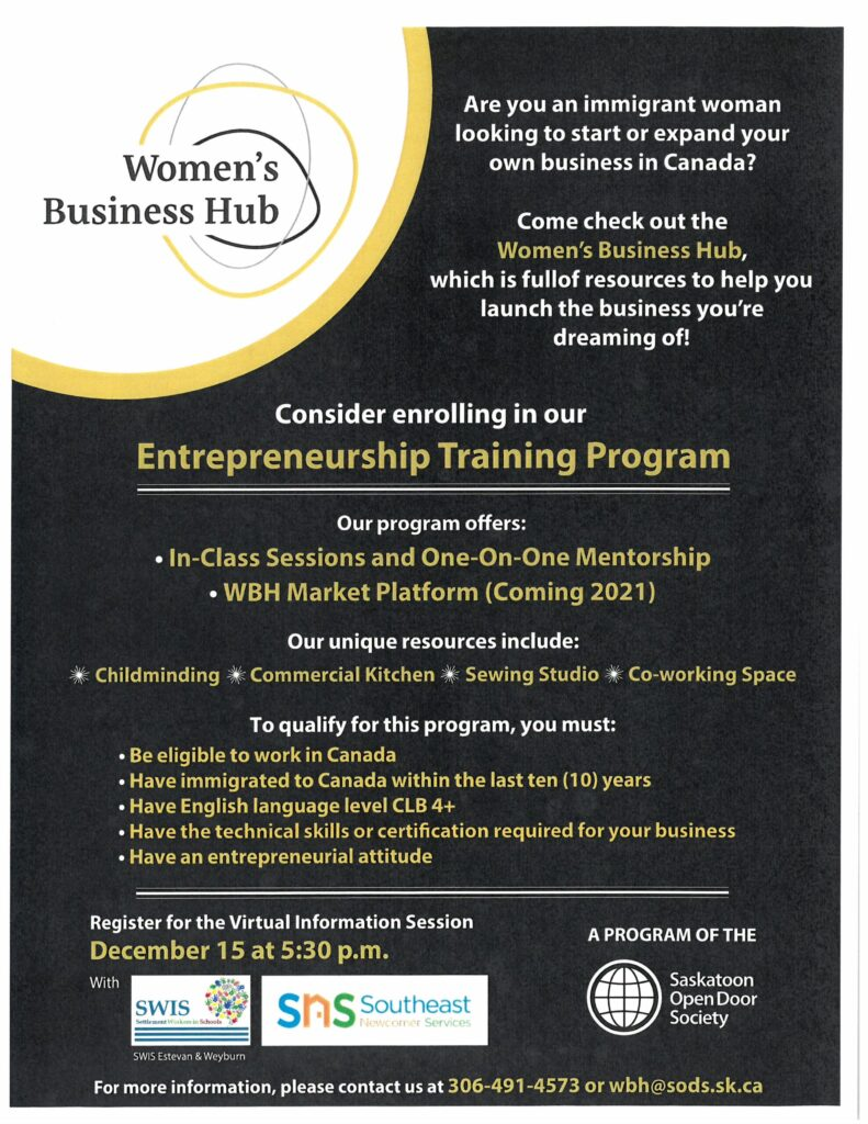 Information Session on Women's Business Hub